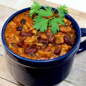 Quick Crockpot Turkey Chili