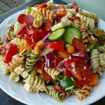 COLORFUL PASTA SALAD WITH HOMEMADE DRESSING