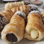 CHOCOLATE CUSTARD HORNS